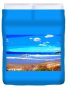 Enjoy The Blue Sea Duvet Cover