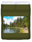 Enjoying Des Chutes River In Des Chutes Nf-or Duvet Cover