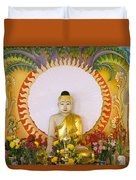 Enlightened Buddha Sitting Under The Bodhi Tree Duvet Cover