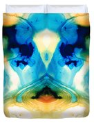 Enlightenment - Abstract Art By Sharon Cummings Duvet Cover