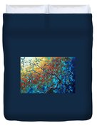 Enormous Abstract Bird Art Original Painting Where The Heart Is By Madart Duvet Cover
