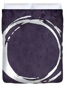 Enso No. 107 Purple Duvet Cover