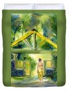 Enter The Garden Duvet Cover