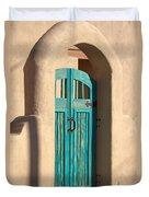 Enter Turquoise Duvet Cover