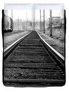 Entering The Train Yard. Washington Dc Duvet Cover