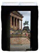 Entrance Old National Gallery Berlin Duvet Cover
