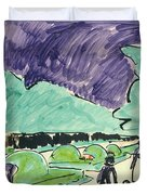 Entrance To A Large Garden In Dresden Duvet Cover by Ernst Ludwig Kirchner