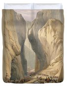Entrance To The Bolan Pass From Dadur Duvet Cover
