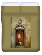 Entrance To The Gothic Revival Chapel. Streets Of Dublin. Painting Collection Duvet Cover