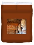 Entrance To The Great Temple Of Ramses II Duvet Cover