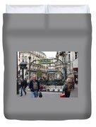 Entrance To The Paris Metro Duvet Cover