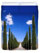 Entrance To Villa Tuscany - Italy Duvet Cover