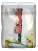 Entrusting Myself To You  Duvet Cover by Jenny Rainbow