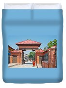 Entry To Pasupatinath Temple Of Cremation Complex In Kathmandu-nepal    Duvet Cover