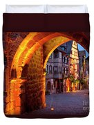 Entry To Riquewihr Duvet Cover by Brian Jannsen