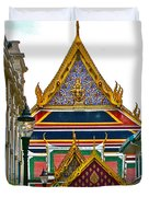 Entryway To Middle Court Of Grand Palace Of Thailand In Bangkok Duvet Cover