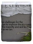 E.o. Wilson Quote Duvet Cover