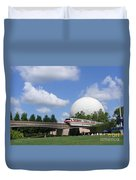 Epcot And The Monorail Ride Duvet Cover