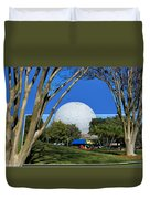 Epcot Globe 02 Duvet Cover by Thomas Woolworth