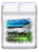 Epcot Globe And Blue Monorail Walt Disney World Photo Art 01 Duvet Cover