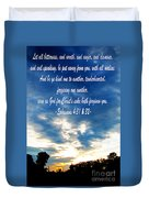 Ephesians Four Thirtyone And Two Duvet Cover