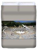 Theater Of Ephesus Duvet Cover