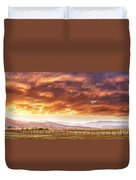 Epic Colorado Country Sunset Landscape Panorama Duvet Cover