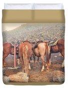 Equine Gossip - Haleakala Duvet Cover