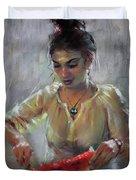 Erbora With Watermelon Duvet Cover