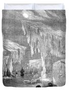 Erebus And Terror In The Ice 1866 Duvet Cover