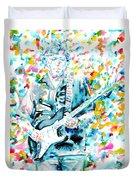 Eric Clapton - Watercolor Portrait Duvet Cover