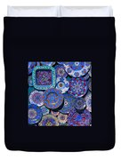 Erice Italy Plates Blue Duvet Cover