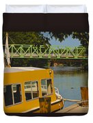Erie Canal At Pittsford Ny Duvet Cover