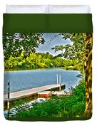 Erie Canal Dockage Duvet Cover