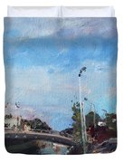 Erie Canal In Lockport Duvet Cover