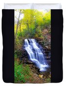 Erie Falls Vertical Panoramic Duvet Cover