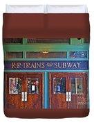 Erie Lackawanna Terminal Doors Hoboken Duvet Cover