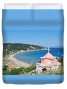 Erikousa Beach Duvet Cover