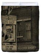 Ernest Tubb Record Shop Duvet Cover