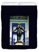 Ernst Fuchs Museum Nude Statue Duvet Cover