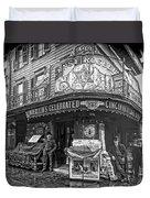 Ernst Roebers Saloon - Manhattan - 1908 Duvet Cover by Daniel Hagerman