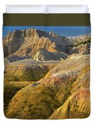 Eroded Buttes Badlands National Park Duvet Cover
