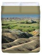 Eroded Landscape Badlands Np Duvet Cover