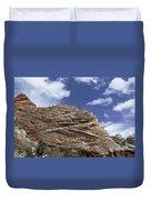 Eroded Sandstone Zion Np Utah Duvet Cover