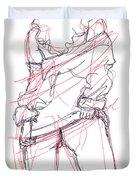 Erotic Art Drawings 6 Duvet Cover