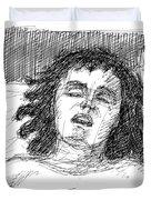 Erotic-drawings-24 Duvet Cover