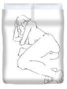 Erotic-female-drawings-21 Duvet Cover