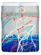 Erupting Blues Duvet Cover