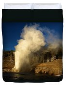 Eruption Along The Firehole Duvet Cover