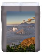 eruption at Gunung Bromo Duvet Cover